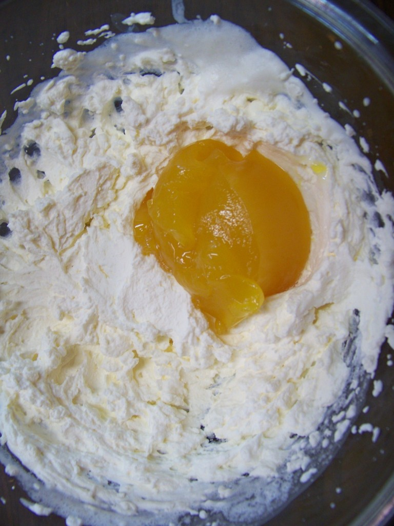 Lemon Curd into Whipped Cream