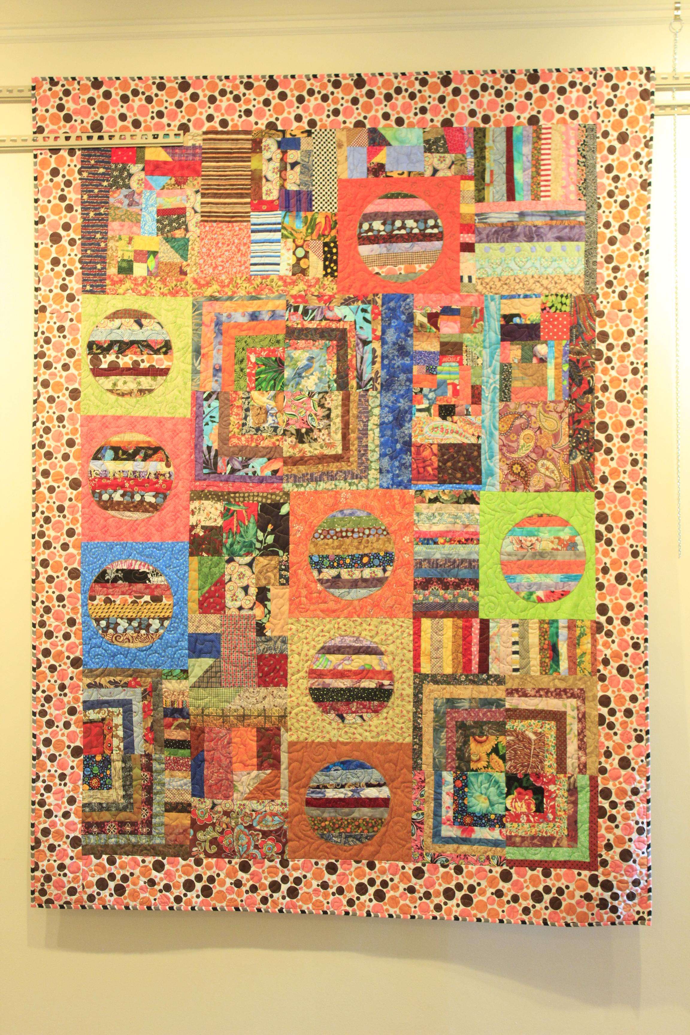 Margarita Blyumkina and her quilt work