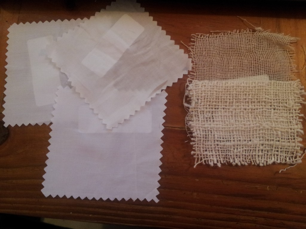 fabric samples for new aprons
