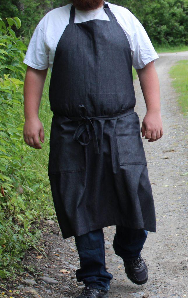Barn Apron in Black Denim 2