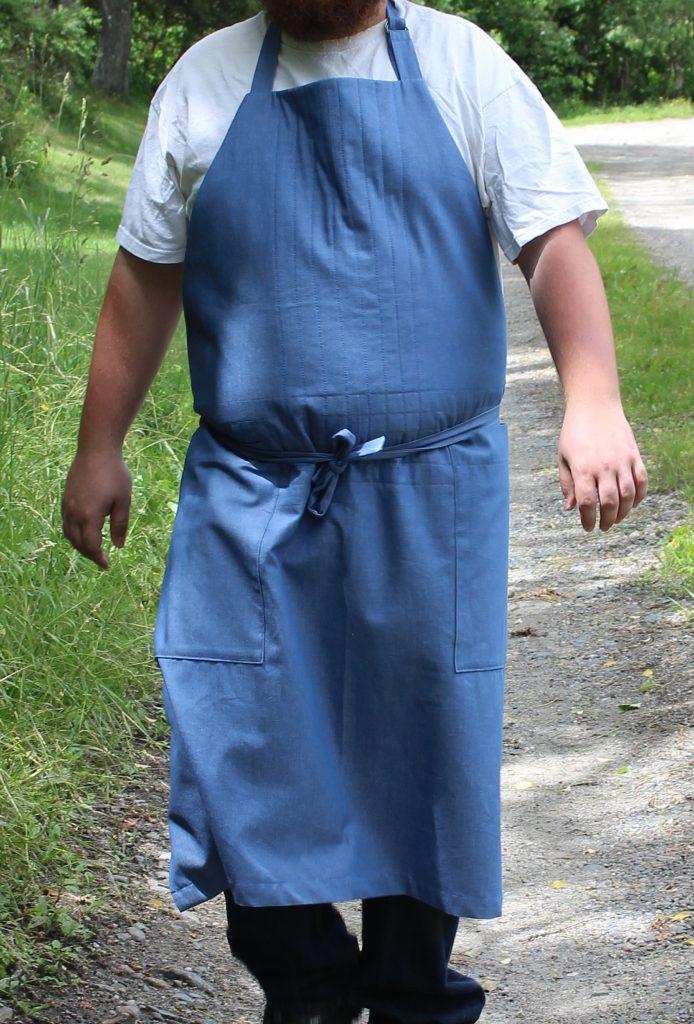 Barn Apron in Blue Denim 2