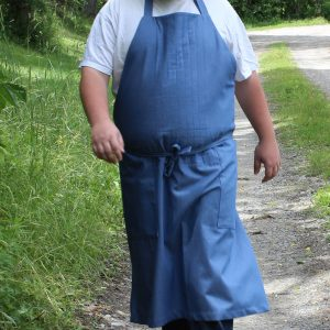 Barn Apron in Blue Denim 4