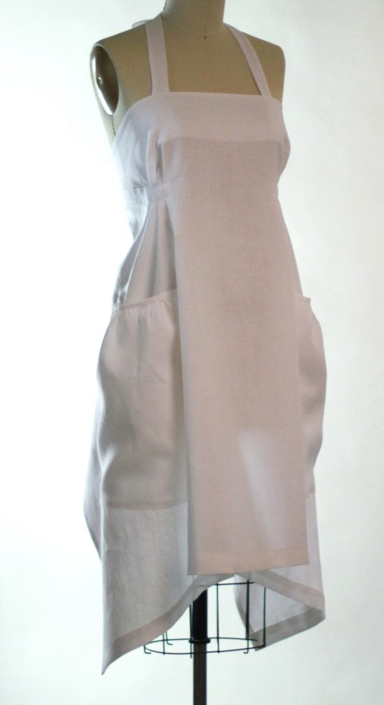 Hippy Apron in White Linen by The Vermont Apron Company