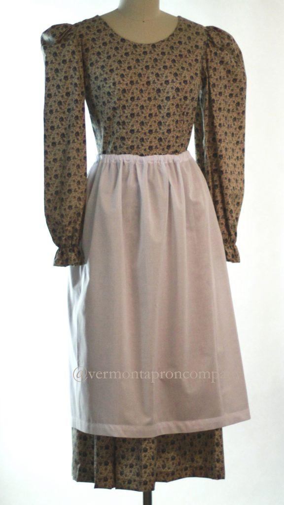 White Aprons -White Cotton Drawstring Apron by The Vermont Apron Company