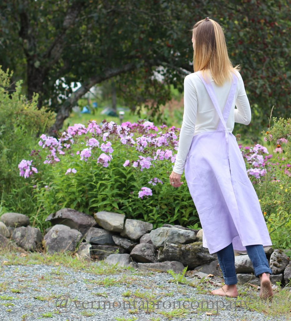 Lavender Linen No Teis Apron by The Vermont Apron Company