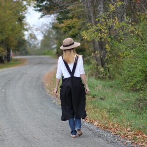 Black Linen Apron by The Vermont Apron Company