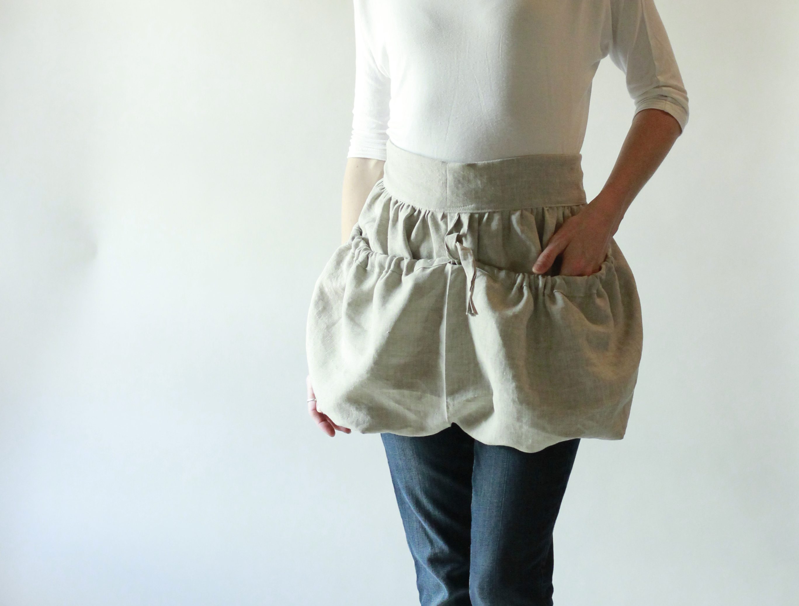 Gathering Apron in Linen