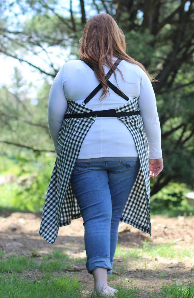 The Wrap Apron - Plus Size - Back view