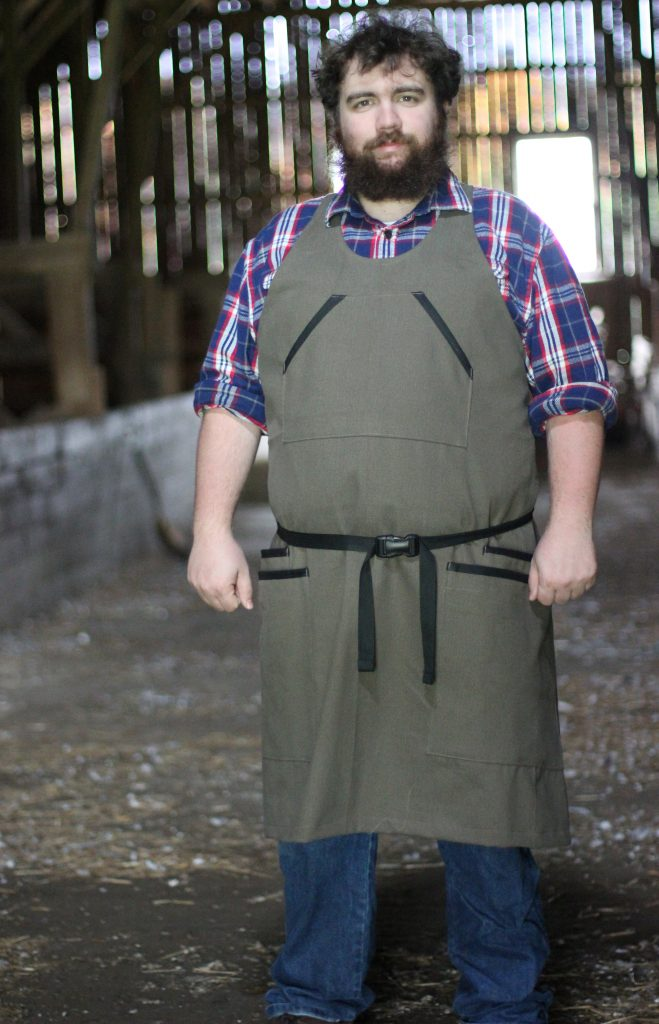 Mens Barn Apron with adjustable back straps by The Vermont Apron Company