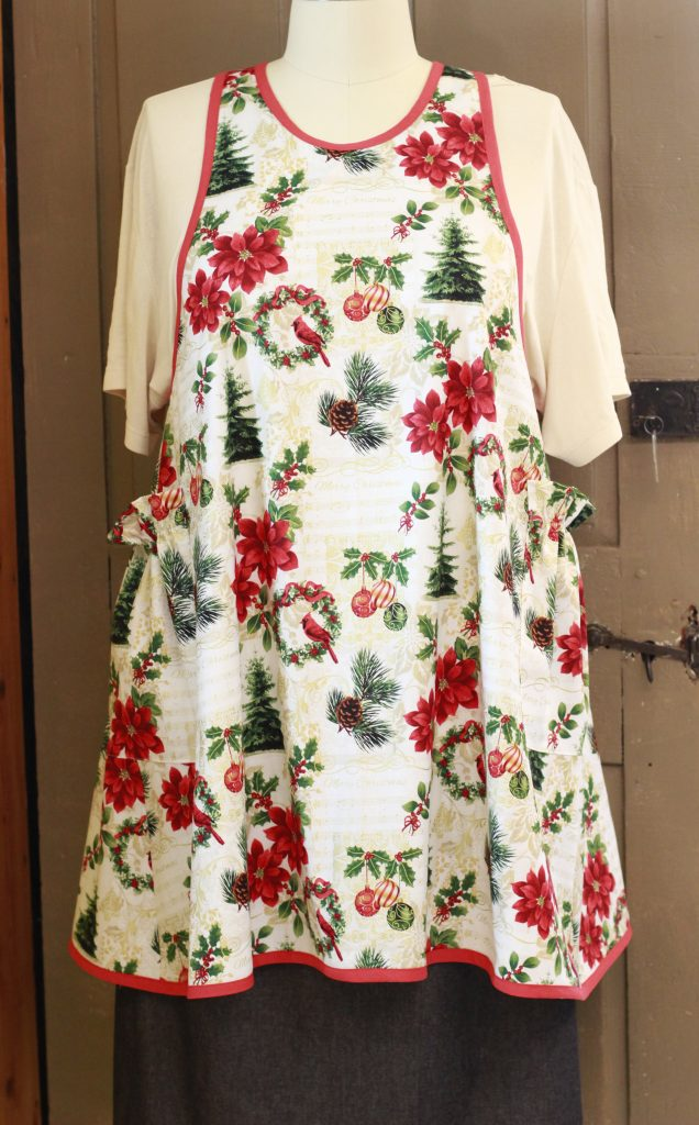 Holiday No Ties Apron in Christmas Print for your holiday aprons