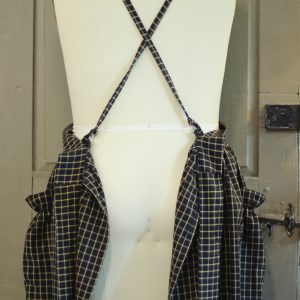 Gathered Bib Apron with crossback ties.