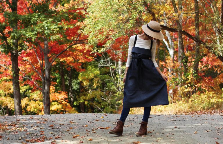 Wrap Apron in Black Denim by The Vermont Apron Company